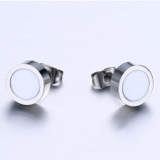 Stud Earrings, Coxeer All-Match Stainless Steel High Polished Ear Pendants for Men