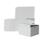 6x4.5x4.5 White Open Lid Gift Boxes - Sold individually