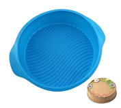 23cm DlY Round Shape 3D Silicone Cake Mould Baking Tools Pan