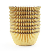 Gold Foil Metallic Cupcake Case Liners Baking Muffin Paper Cases 200 Pcs