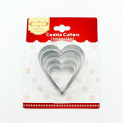 BrilliantDay 5pcs 304 Stainless Steel Holiday Themed Cookie Cutter for Biscuits, Fondant and Pastry Icing Biscuit Moulds DIY Baking Tool Set#3