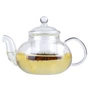 Kicode Heat Resistant Clear Borosilicate Glass Teapot With Infuser Coffee Tea Leaf Herbal Pot Bottle 1000ML