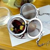 Kicode 4.5cm Stainless Steel Infuser Strainer Mesh Tea Leaf Coffee Filter Spoon Locking Spice