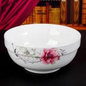 Liuyu Kitchen Home Bone China Soup Bowl 20cm Home Soup Basin Face Bowl Soup Pot