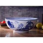 Liuyu Kitchen Home Ceramics Fermentation Pots Pickled Fish Bowl Hand Painted Underglaze Colour Big Soup Basin Soup Bowl