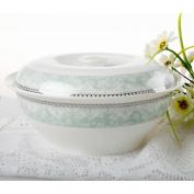 Liuyu Kitchen Home Bone Chinaware 23cm Big Soup Pot Soup Basin With Cover Soup Bowl