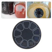 Jiamins Round Adhesive Thermometer Displays Degrees Celsius For Homebrew Beer Wine Mead
