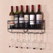 LIXIONG Wall hanging Wine rack Bottles Holder Shelf suspension goblet Display Shelves, 3 colours