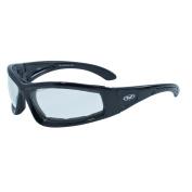 Global Vision Gloss Black Frame with Foam Padding Clear Lens SKU