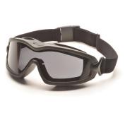 Pyramex V2G-Plus Goggles Black Strap/Grey Dual AF Lens SKU