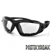 Bobster Renegade Conv Sunglass Blk Frame PhotoC Lens with Elite Tactical Cloth