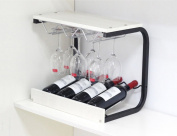 SUBBYE Wine Rack European-style Wine Bottle Rack Household Stemware Holder Creativity Wine Rack Modern Wine Cup Holder Colour Optional
