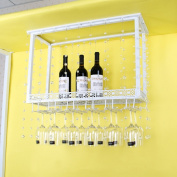 SUBBYE Wine Rack European Style Bar Wine Rack Creative Cup Holder Wine Glass Rack Hanging Stemware Holder Upside Down Wine Glass Holder