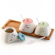 MOMO Ceramic Seasoning Cans, Multi-Functional Seasoning Cans Salt Bottles, Home Seasoning Pots, Kitchen Utensils Supplies