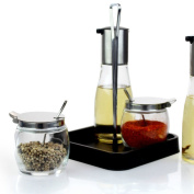 Transparent Glass Soy Sauce Bottle Spice Jar Set Chicken Essence Salt Pepper Pepper Sugar Cans Kitchen Table Supplies