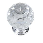Sharplace Vintage Crystal Closet Door Dresser Cupboard Bin Handle Pull Knob Transparent