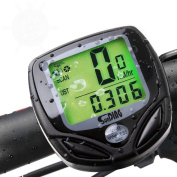 Bike Computer,Wireless Bicycle Speedometer/Cycling Odometer with Waterproof Waterproof Automatic Digital LCD Backlight Outdoor Cycling Computer 16 Functions