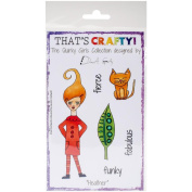 That's Crafty Clear Stamp 10cm x 15cm -heather