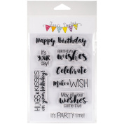 Jane's Doodles Clear Stamps 10cm x 15cm -Birthday Wishes