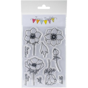 Jane's Doodles Clear Stamps 10cm x 15cm -anemone