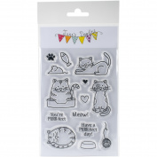 Jane's Doodles Clear Stamps 10cm x 15cm -Cats