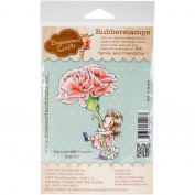 Dreamerlandcrafts Cling Stamp 10cm x 18cm -say Love With Flowers