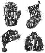 Tim Holtz Cling Stamps 18cm x 22cm -Carved Christmas #1