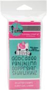 Pink & Main Curvy Girl Font Stamp Set 36pcs-Lowercase Alphabet