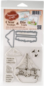 DreamerlandCrafts Clear Stamp & Die Set 10cm x 10cm -Wishing You A Smooth Sailing Ahead