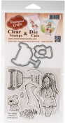 DreamerlandCrafts Clear Stamp & Die Set 10cm x 10cm -The Road To Home Is Never Too Far
