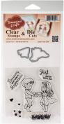 DreamerlandCrafts Clear Stamp & Die Set 10cm x 10cm -Just Dance With Me