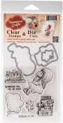 DreamerlandCrafts Clear Stamp & Die Set 10cm x 10cm -Wondering How You Are Doing