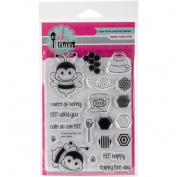 Pink & Main Clear Stamps 10cm x 15cm -Bee Happy