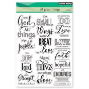 Penny Black All Great Things Clear Unmounted Rubber Stamp Set
