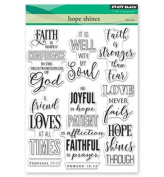 Penny Black Hope Shines Clear Unmounted Rubber Stamp Set