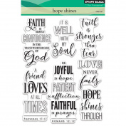 Penny Black Clear Stamps 13cm x 18cm -Hope Shines