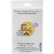 Whipper Snapper Cling Stamp 10cm x 15cm -Full Moon Hoot