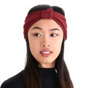 Casualbox Ribbon Twist Turban Headband Soft Stretchy Cute Sport Yoga Fitness