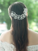Handcess Wedding Headband Flower Bridal Hair Vine Hair Accessories for Bride and Bridesmaid