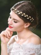 Handcess Wedding Headband, Gold Leaf Bridal Headpieces for Bridesmaid and Flowergirls