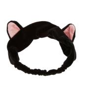 Fostly Girls Sweet Hair Band Cute Cat Ears Headband Hairband Headdress Gift Black