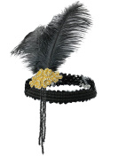 1920s Headband Flapper Headpiece Hair Accessories Feather Sequin Gatsby Accessories for Women