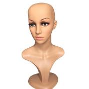 Female Mannequin Head Model Stand Training Head Manikin Wig Glasses Hat Display Hold