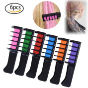 """JETTINGBUY Washable Hair Chalk Comb for Kids, 3.99""""(10cm) Disposable Instant Hair Colour Cream for Kids Hair Dyeing Party and Cosplay DIY, Fits All Hair Colours"""