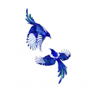 WYUEN 5 PCS Magpie Bird Women Temporary Tattoo Stickers Waterproof Women Fake Hand Animal Tattoos Adult Men Body Art 9.8X6cm A-255