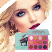 16 Colour Eyeshadow Palette, ROMANTIC BEAR Matte and Shimmer Eye Shadow Highly Pigmented Cream Makeup Palette with Mirror