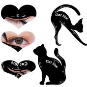 VNEIRW Cat Eyeliner Stencil,Multifunction Cat Shape Eyeliner Stencils Stickers Beginner Makeup Tools
