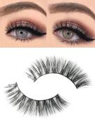 Golden Rule 3D False Eyelashes With Volume Natural Long 100% Handmade Soft Fake Eyelash for Women's Make Up
