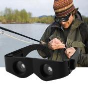 Portable Glass Style Black Telescope & Magnifier For Fishing Hiking Binoculars,black