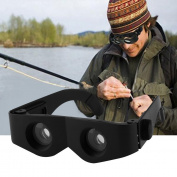 Portable Glass Style Black Telescope & Magnifier For Fishing Hiking Binoculars Transparent Lens Black Frame
